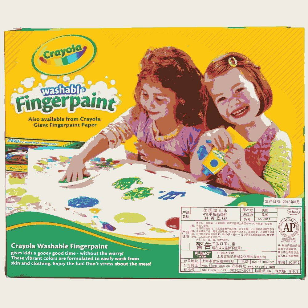 Washable Fingerpaints Primary 4